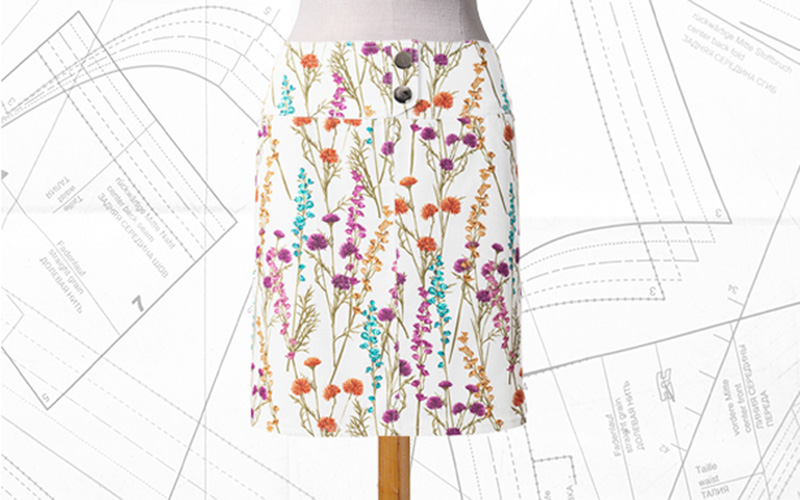 Sewing Lesson: #112B Shaped Waistband Skirt 05/2019