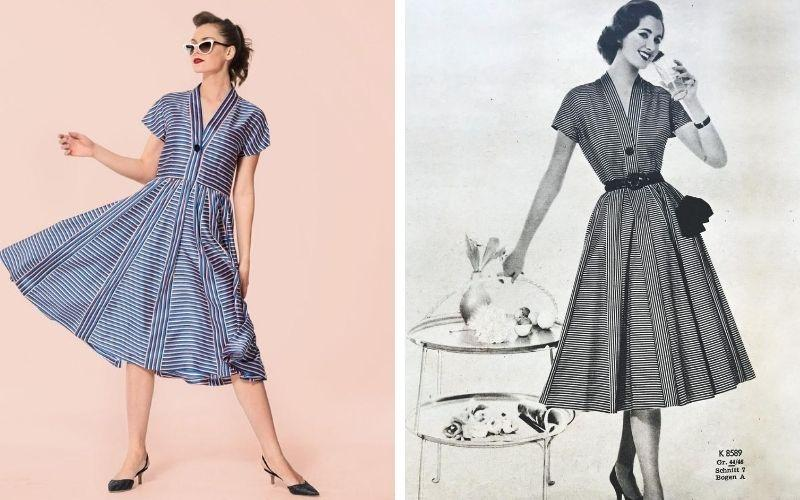 Retro restyle: polyester dress