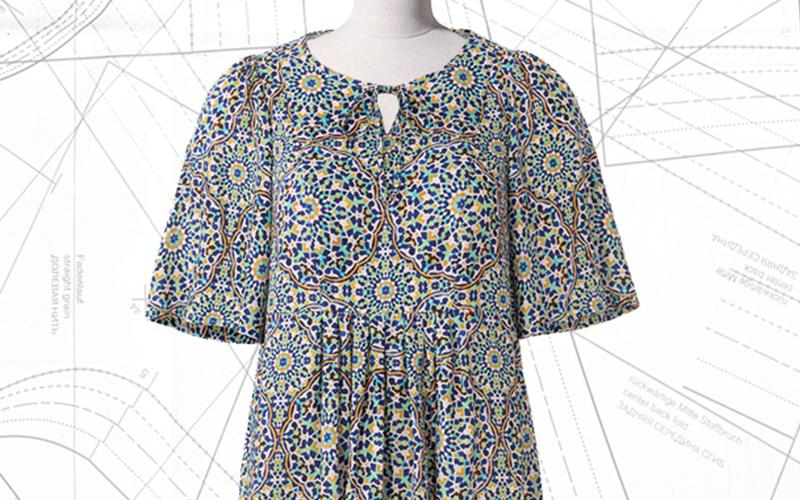 Sewing lesson: #110 silk tunic 07/2020