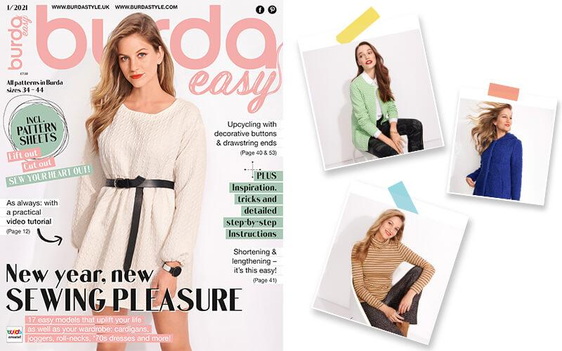 Burda Easy: Come Discover the Newest Issue in January!