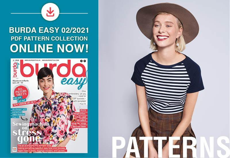 The collection of pdf patterns from Burda Easy No. 02/2021 is online now!
