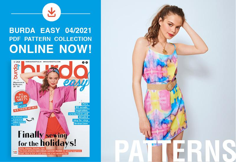 The collection of pdf patterns from Burda Easy No. 04/2021 is online now!