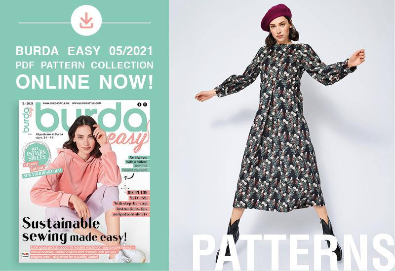 The Collection of PDF Patterns from Burda Easy No. 05/2021 Is Online Now!