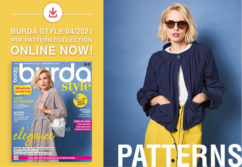 The collection of pdf patterns from the April issue of Burda Style is online now!