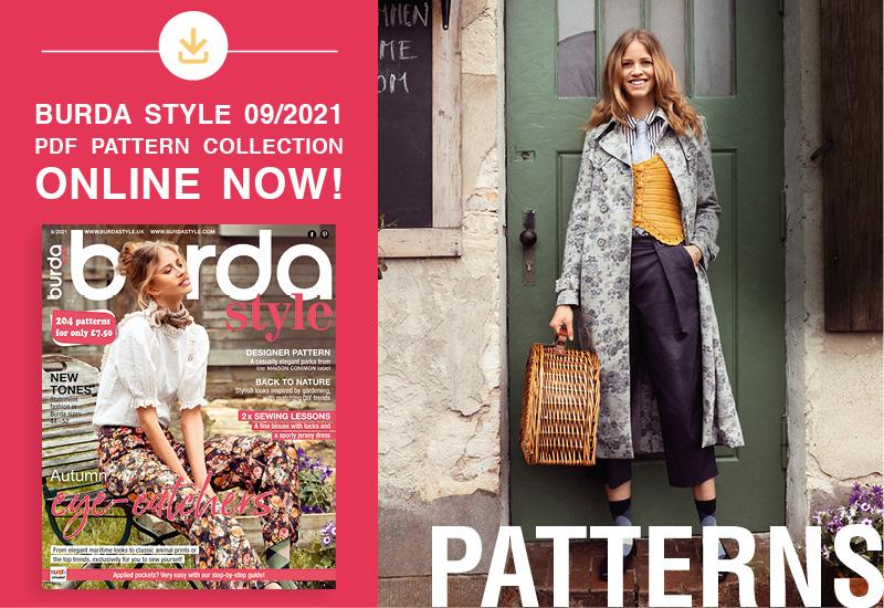 The Collection of PDF Patterns from the September Issue of Burda Style Is Online Now!