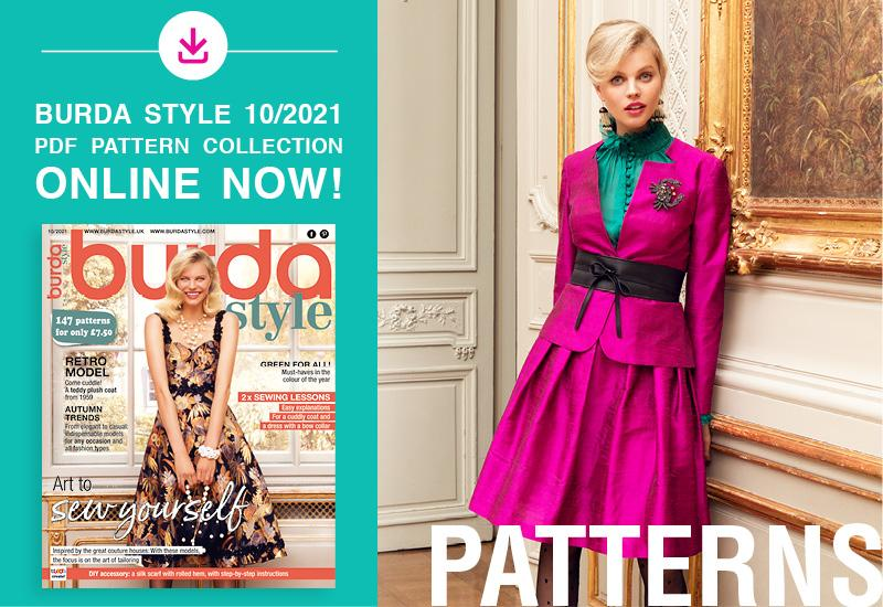 The Collection of PDF Patterns from the October Issue of Burda Style Is Online Now!