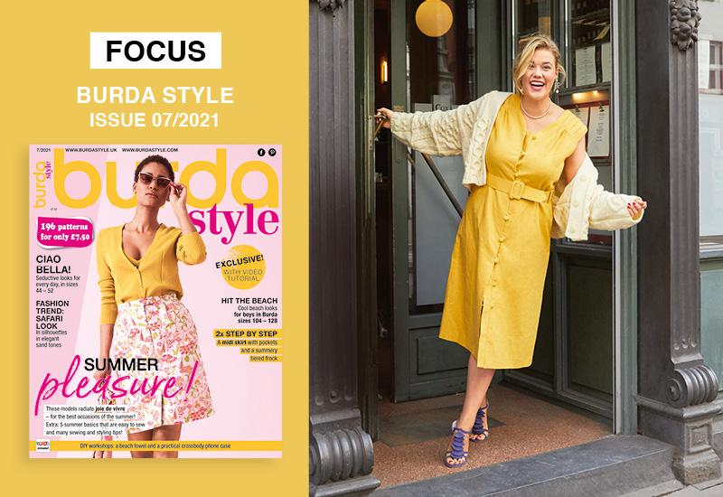 Spotlight on the Plus Collection from the July 2021 Issue of Burda Style: Ciao, Bella!