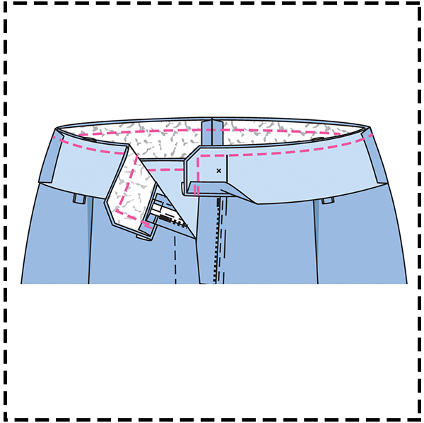 STEP 18: DOUBLE THE WAISTBAND