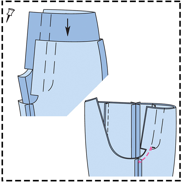 STEP 9: CENTER FRONT SEAM