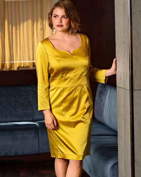 Satin Dress (Plus Size)